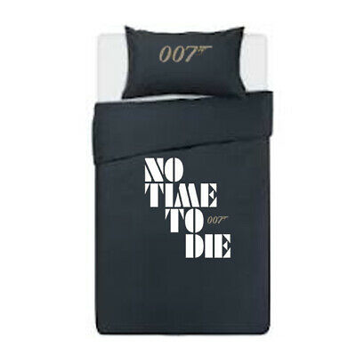 James Bond No Time To Die Duvet Cover & Pillows Bedding Set *personalised*  • 31.99£