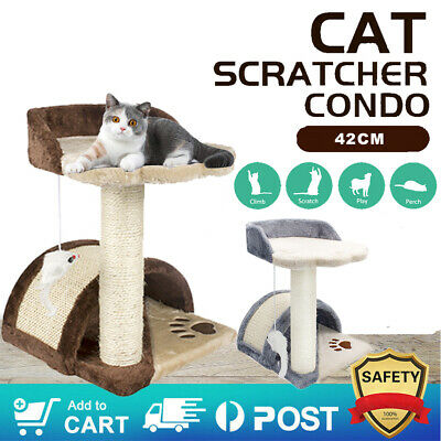 AU37.59 • Buy Cat Tree Scratching Post Pole Tower Condo Kitty Activity Center Bed Stand 42CM