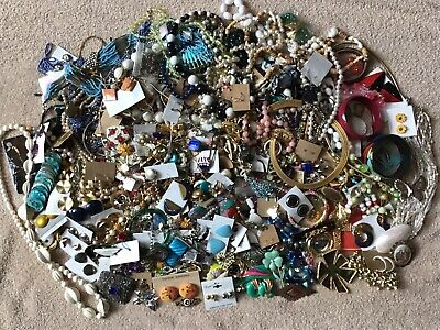 $ CDN230.80 • Buy HUGE Mixed LOT Of Vintage Costume Jewelry UNSORTED UNSEARCHED UNTESTED