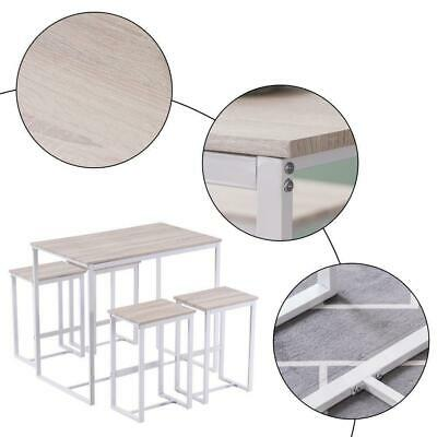 $123.95 • Buy 5 PCS Dining Table Set 4 Chairs Kitchen Breakfast Pub Home Furniture Oak White
