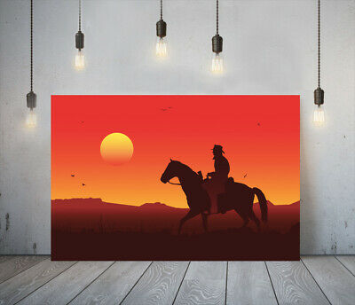 Red Dead Redemption Ii 4 -deep Framed Canvas Game Wall Art Picture Paper Print • 11.99£