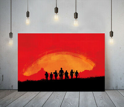 Red Dead Redemption Ii 3 -deep Framed Canvas Game Wall Art Picture Paper Print • 24.99£