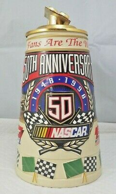$ CDN31.52 • Buy 1998 Budweiser NASCAR 50th Anniversary Lidded Stein Mug Fans Are The Worlds Best