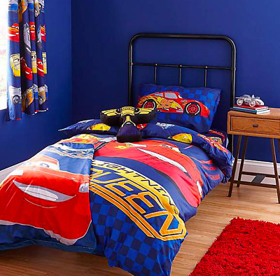 Disney CARS Lightening McQueen Kids Toddler Bed Reversible Duvet Cover Set • 24.99£