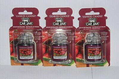 Yankee Candle  Ultimate Car Jar Air Freshener Odour Neutralising  Black Cherry  • 10.99£