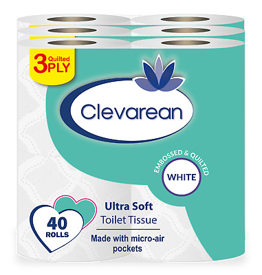 60 Rolls X 20m (Per Roll) 3Ply Quilted & Embossed Luxury Toilet Tissue👌👌 • 18.99£