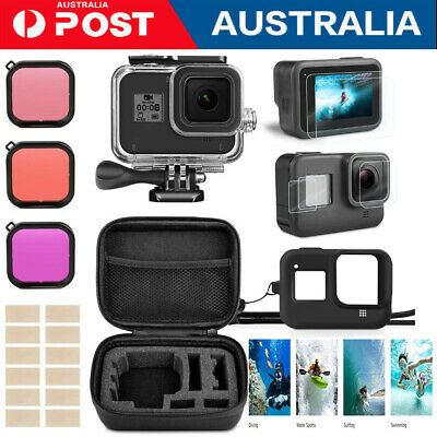 AU39.88 • Buy Accessories Kit For GoPro Hero 8 Black Waterproof Housing  Case Filter Carrying