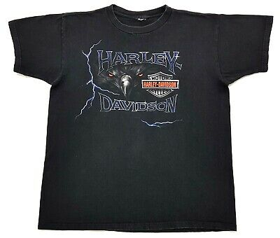 $ CDN40.60 • Buy Vintage Harley Davidson Eagle War Memorial Tee Black Size L Mens T Shirt 2002
