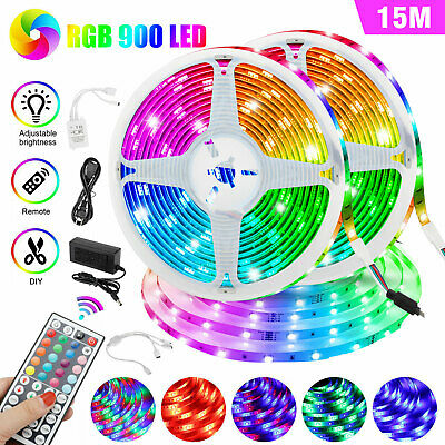 $29.97 • Buy 32/49FT Flexible Strip Light RGB 600 900 LED SMD Remote Fairy Lights Room Party