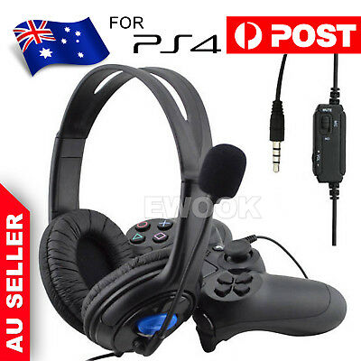 AU13.95 • Buy Gaming Headset Headphone With Microphone Volume Wired For Sony PS4 PlayStation 4