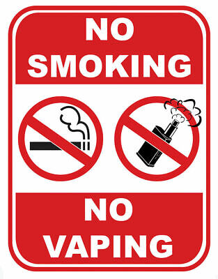 $ CDN2.70 • Buy Sign Adhesive Gloss Sticker Notice No Smoking No Vaping Area Non Smoking Vaping*