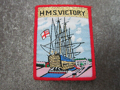 HMS Victory Woven Cloth Patch Badge (L33S) • 4.99£