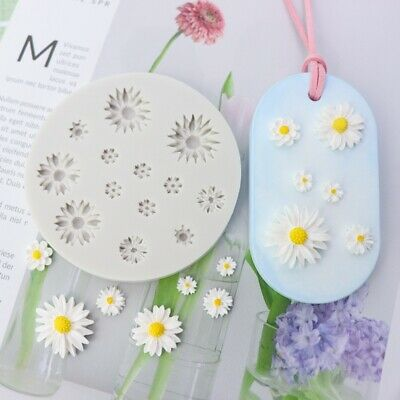 Daisy Silicone Fondant Cake Mold Chocolate Flower Topper Baking Mould Decoration • 3.99£