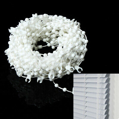 10M White Blinds Bead Chain Roman Shade Vertical Curtain Home Window Accessories • 4.39£