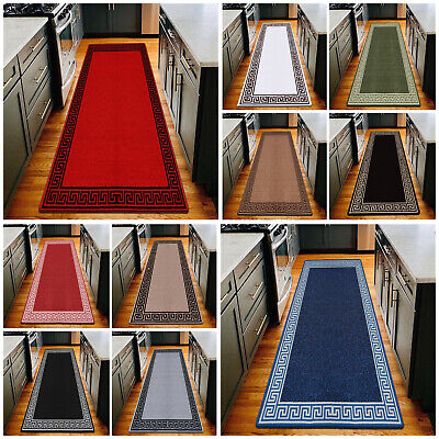 Modern Long Hallway Runner Rugs Non Slip Door Mats Bedroom Kitchen Floor Mat • 15.49£