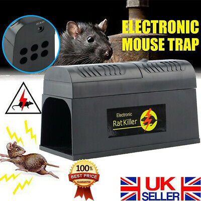 Big Electronic Mouse Trap Mice Rat Killer Pest Control Electric Zapper Rodent UK • 22.89£