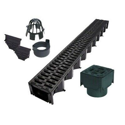 Plastic Grating 1M Length 1.5t Mufle 4All Drainage Channel 100x70 Channel With