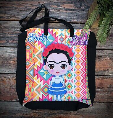 $18 • Buy Frida Kahlo Chihuahua Beach Tote Bag