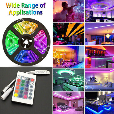$13.10 • Buy 16FT Flexible 3528 RGB LED SMD Strip Light Remote Fairy Lights Room TV Party Bar