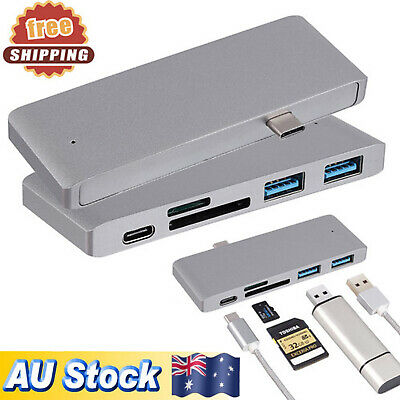 AU22.99 • Buy USB-C 3.0 Type-C Combo Hub 5 In 1 Charging Card Reader Adapter  For MacBook Pro
