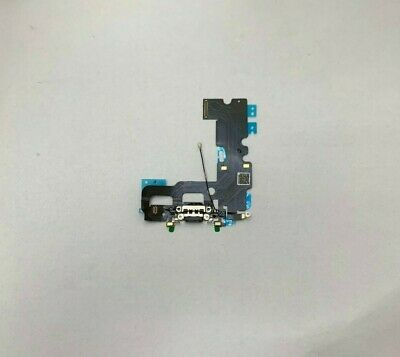 NEW IPhone 7 4.7  Lightning Charging Block Port Flex Cable With Mic Black • 4.25£