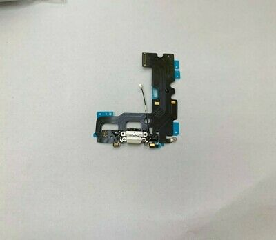 NEW IPhone 7 4.7  Lightning Charging Block Port Flex Cable With Mic White  • 4.25£