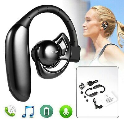 $11.85 • Buy Ear Hook Bluetooth 4.1 Earphone Stereo Bass Headphone Wireless Sport Headset Mic