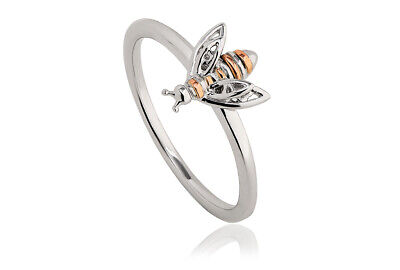BRAND NEW Welsh Clogau Silver Rose Gold Honey Bee Ring £20 OFF! SIZE N • 59£