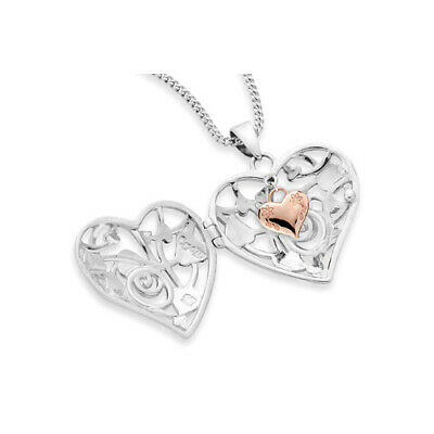 NEW Official Welsh Clogau Silver & Rose Gold Tree Of Life Heart Locket £40 • 84£
