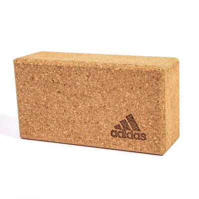 AU35 • Buy Adidas Cork Yoga Block Sport Fitness Gym/Home Workout Prop Exercise Brick Brown