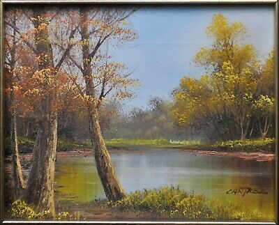 $ CDN119.36 • Buy Water In Autumn Landscape Oil Painting By Phillip Cantrell