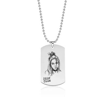 Billie Eilish Chain Necklace Stainless Steel *UK SELLER* Unisex Jewellery • 4.95£