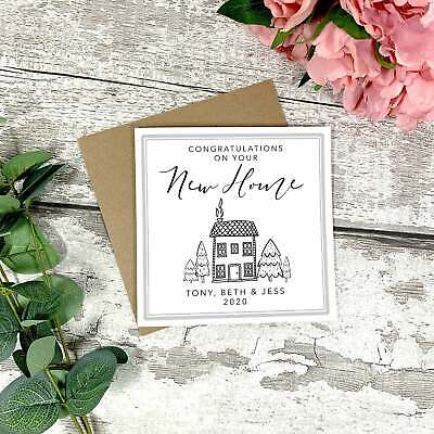 Personalised New Home Card - New Home Gift - Congratulations On Your New Home • 2.99£