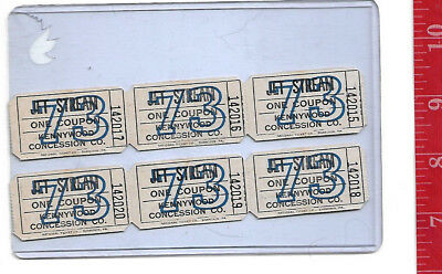 $9 • Buy Vintage Lot 1973 Jet Stream Tickets Kennywood Park Pennsylvania