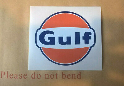 Gulf Motor Racing Decal Stickers Various Sizes Cut To Shape Weatherproof • 11.99£