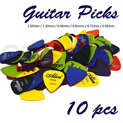 AU2.95 • Buy 10 X ALICE Guitar Picks Bulk Coloured Celluloid Plectrums Standard Mixed Colour