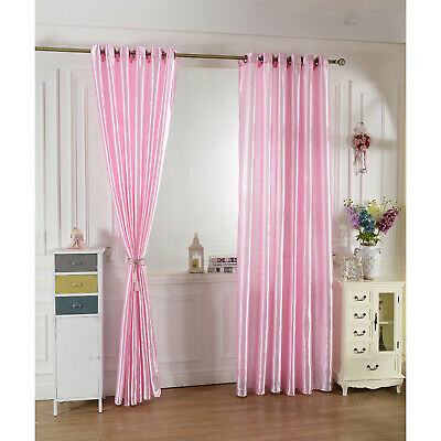 £9.79 • Buy Plain Voile Curtain Panel Pencil Pleat / Eyelet Ring Top Net Voile Curtains Pink