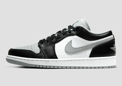 "$107.99 • Buy NEW Air Jordan 1 Low ""Shadow"" Smoke Grey 553558-039 Men's Sizes 9.5-13"