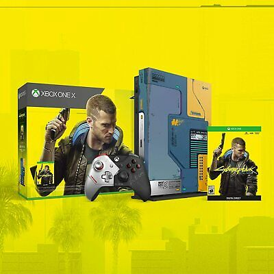 $475 • Buy Xbox One X 1TB Console Cyberpunk 2077 Limited Edition Bundle Collectors IN HAND