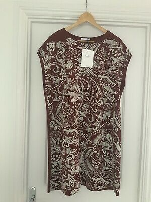 $12.47 • Buy BNWT Zara Brown Embroidered Dress Size XXL
