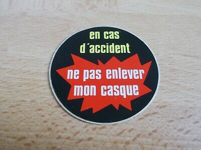 Sticker Motorcycle - IN (Case) Crash Ne Pas Remove My Helmet • 2.80£