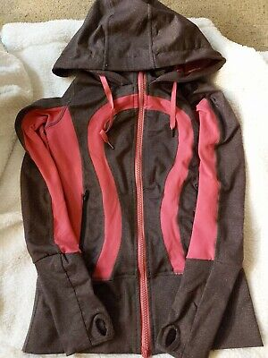 $ CDN19.24 • Buy Lululemon Stride Jacket Space Gray With Pink Trim Size 2