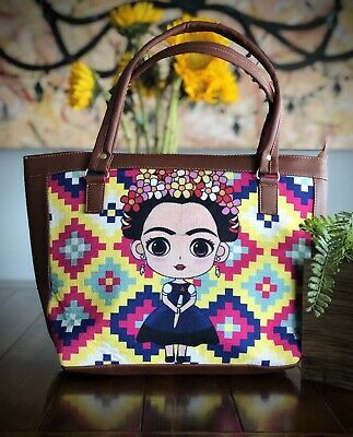 $31 • Buy Frida Kahlo Jute/ Vinyl Shoulder Bag