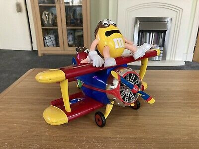 M&M World: M&Ms Sweet Dispenser Aeroplane Collectable Rare • 12£