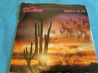 THE SHADOWS - Riders In The Sky 7  VINYL SINGLE 1980 • 2£