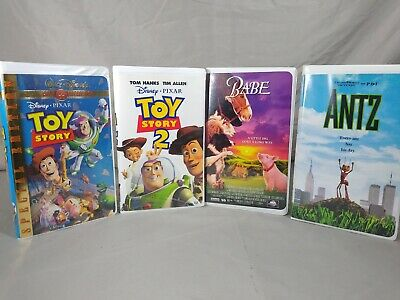 $ CDN62.17 • Buy Lot Of 4 VHS Tapes Walt Disney Toy Story Special Edition Toy Story 2 Babe Antz