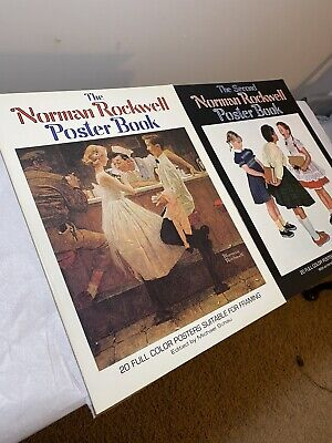 $ CDN52.71 • Buy Set Of 2  Second Norman Rockwell Poster Book Rockwell Norman 1st Printing 1977