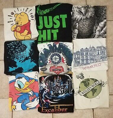 $ CDN42.09 • Buy Vintage 90s T-Shirt Wholesale Lot 9 Single Stitch Pooh Nike Bootleg Resale As Is