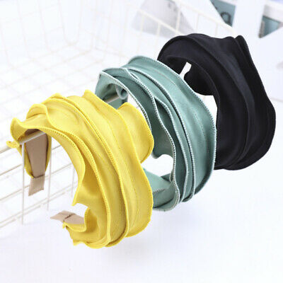 $ CDN3.88 • Buy Ladies Fashion Solid Color Headband Girl Wide-Brimmed Hairband Hair Accessories