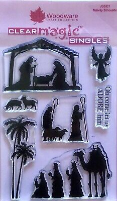 Woodware Clear Stamp Set Nativity Silhouette By Jane Gill - JGS531 • 6£